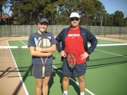 Clive Martin tennis coaching and restringing