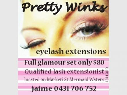 Pretty Winks eyelash extensions